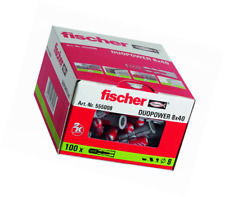 fischer 555008 DUOPOWER Wall Plug, Red/Grey, 8 x 40 mm, Set of 100 Pieces