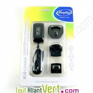 freeplay Adaptateur secteur USB universel Eco-Charge Freeplay