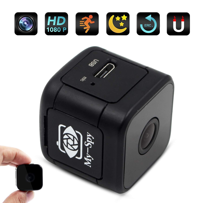 Mini caméra Espion – Caméra vidéo de sécurité Portable HD 1920×1080 cachée – Détection de Surveillance intérieure et extérieure – Vision Nocturne Infrarouge / détection de Mouvement / Fente USB / SD