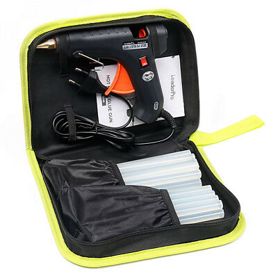Pistolet à Colle Chaud LeaderPro 60W, Trousse à Outil, 19cm*11mm 20pcs...