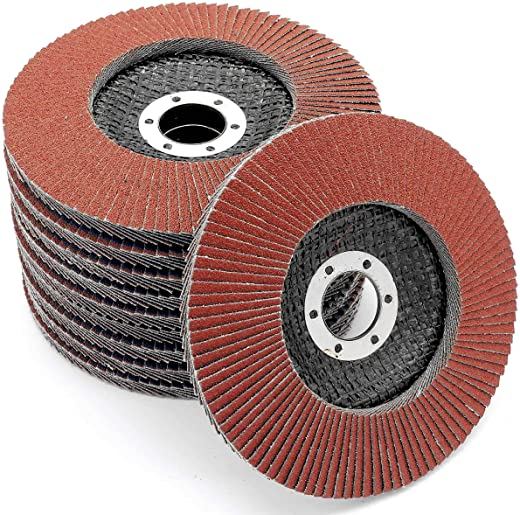 Lot de 10 disques de ponçage à lamelles Ø 125 mm Grain 60 Marron