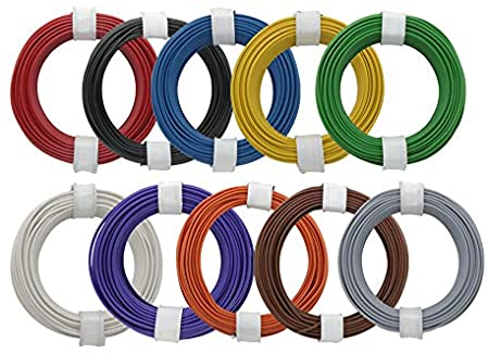 Donau Elektronik 118-MIX Single Flex Wire Set 10 x 10m 0,14 mm², Multi-Colour