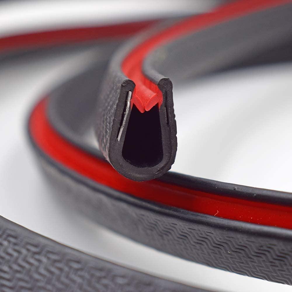 Joint noir large en U - Hauteur 53,3/81,3cm - Hauteur 7,6/162,5 cm - 12,7/81,3 cm. plan de serrage., noir