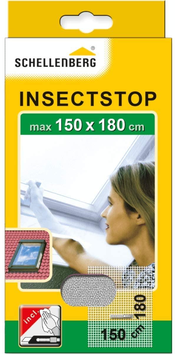 Schellenberg 50328 Moustiquaire pour lucarnes contre insectes/moustiques 150 x 180 cm Blanc