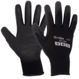 12 Pair of Gloves Size 9 Black Nylon SBS by SBS – Schlößer Baustoffe