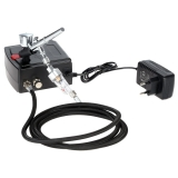 Airbrush Kit Compresseur, KKmoon 100-250V Gravité Professionnelle Double Action Airbrush Kit Compresseur d'Air, pour Tatouage/Manucure/Craft/Spray Modèle/Nail/Ensemble/d'Outils de Peinture d'Art.
