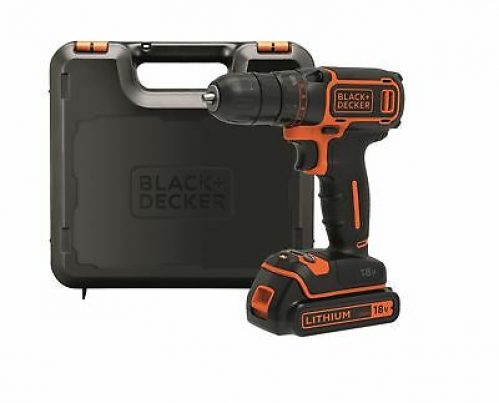 Black + Decker BDCDC18K-QW 18V Cordless Drill with Battery Charger 3h .