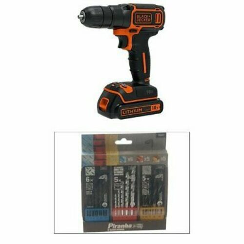Black + Decker BDCDC18K-QW Perceuse sans fil 18 V avec batterie chargeur 3 NEW