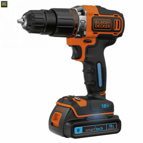 Black & Decker BDCHD18KST-QW 18 V Smart tech Perceuse-visseuse à percussion...
