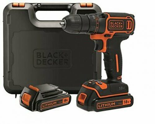 BLACK+DECKER BDCDC18KB-QW Perceuse visseuse sans fil - 18V - 1,5 Ah - 2 bat ...