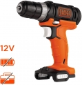 BLACK+DECKER BDCDD12USB-XJ Perceuse-Visseuse sans fil, 12V, Sans coffret, Sans batterie