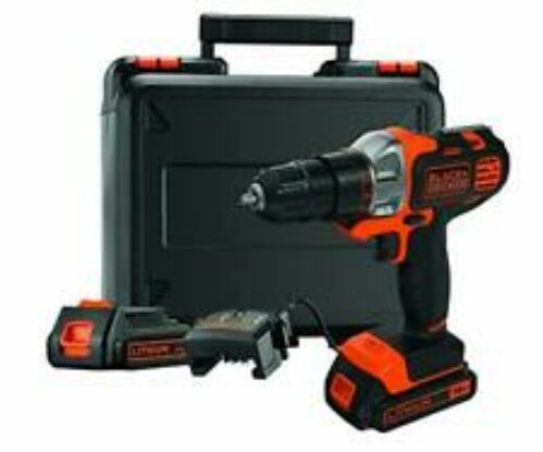 BLACK+DECKER MT218KB-QW Perceuse-Visseuse sans fil - 18 V - 1,5Ah - 20 Nm - 0 -