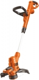 BLACK+DECKER ST5528-QS Coupe-bordures filaire – Mode dresse-bordures – Poignée ajustable 550W, Orange,