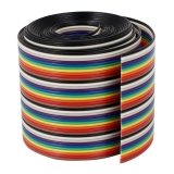 Câble de cavalier arc-en-ciel flexible multicolore plat VIPMOON 1M 1,17mm 40PIN Dupont Wire