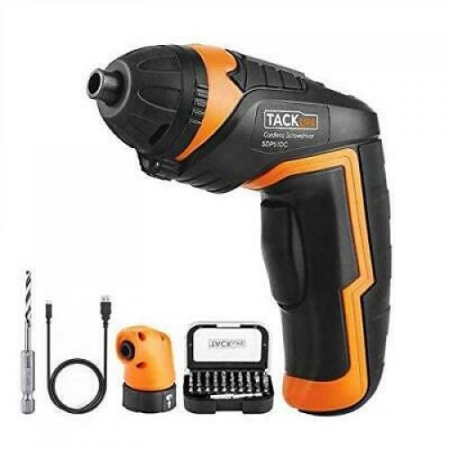 Cordless Screwdriver, Tacklife SDP51DC 3.6V 2000mAh Rechargeable Lithium...