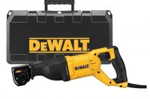 DEWALT DWE305PK-QS Scie sabre filaire – 1100W – Spéciale applications difficiles – Course à vide 0-2800 cps/min – Course de la lame 29 mm – Fixation 4 positions – Mallette de transport robuste