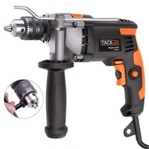 Hammer Drill, Tacklife 850W 3000 RPM Impact Drill with 360°Rotating Hand, Shell,