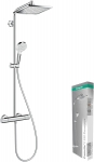 Hansgrohe Colonne de Douche Showerpipe Crometta E 240 Mitigeur Thermostatique Douche Chrome 27271000