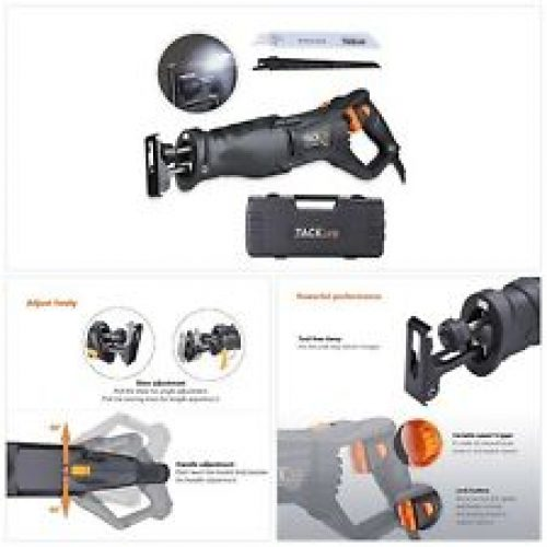 Reciprocating Saw, Tacklife 850W 2800RPM,Flexible Hand Shank, with LED Light,