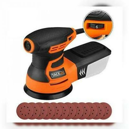TACKLIFE Ponceuse Excentrique, Rotative, 350W 0-13000OPM, 6 Vitesses...