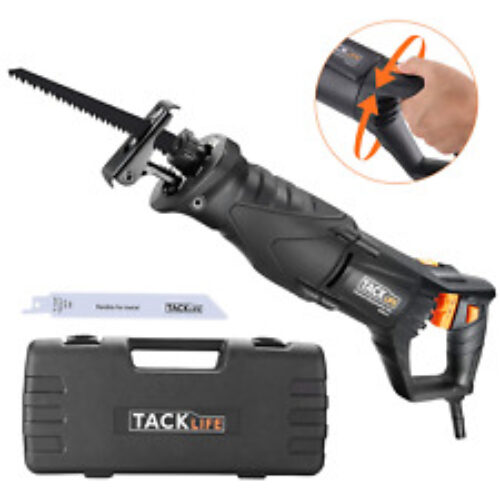 TACKLIFE Reciprocating Saw, 850W, 2800SPM, Rotary Handle90° Left & Right, LED 2