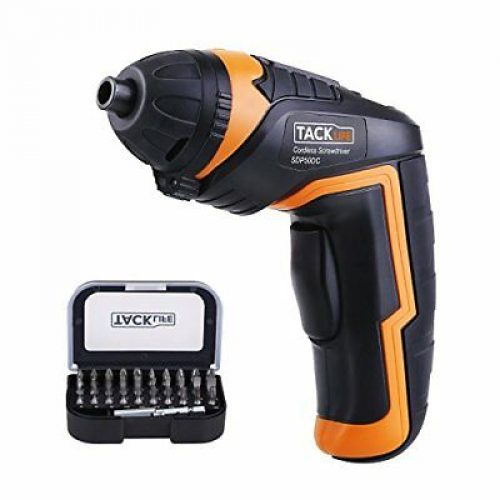 Tacklife SDP50DC Cordless Screwdriver Rechargeable Electric Compact Driver with