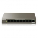 Tenda TEF1109P-8-63W Switch PoE 8 Ports 10/100 Mbps, Switch Ethernet PoE, Port RJ45, 6KV Contre-Foudre, Plug and Play