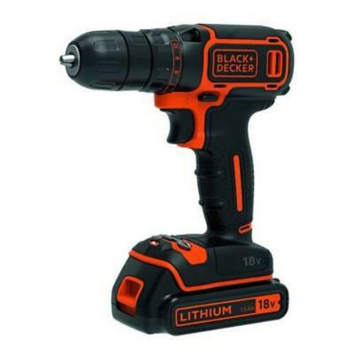 Trapano Black+Decker Litio Bdcdc18k-Qw 1/Batteria 18V-1,5Ah